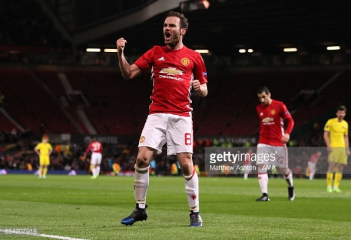 "Man United looking forward to challenge of ""frantic"" April, insists Juan Mata"