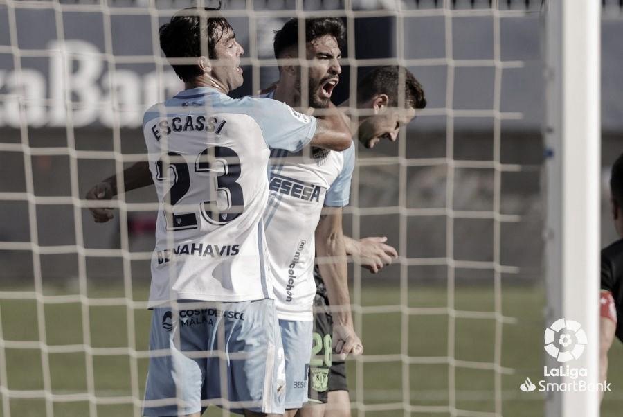 Juande celebrando el gol del Málaga CF en la jornada 13ª. / Foto: LaLiga.