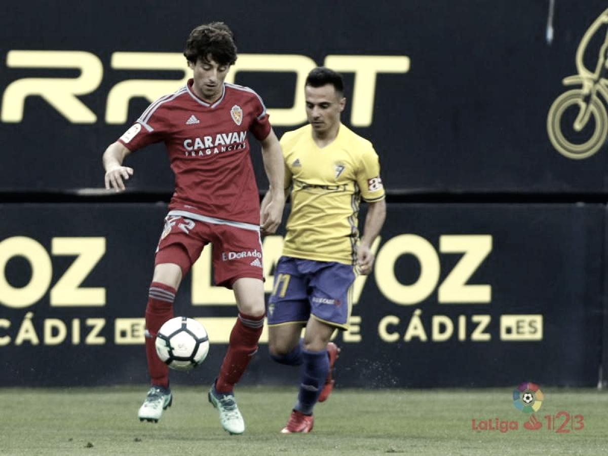 Los datos del Cádiz - Real Zaragoza: máxima igualdad con mayor posesión visitante
