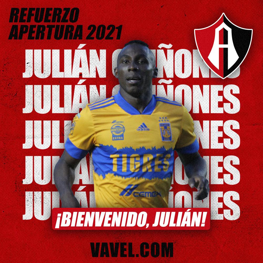 Julián Quiñones es el primer refuerzo de Atlas de cara al Apertura 2021