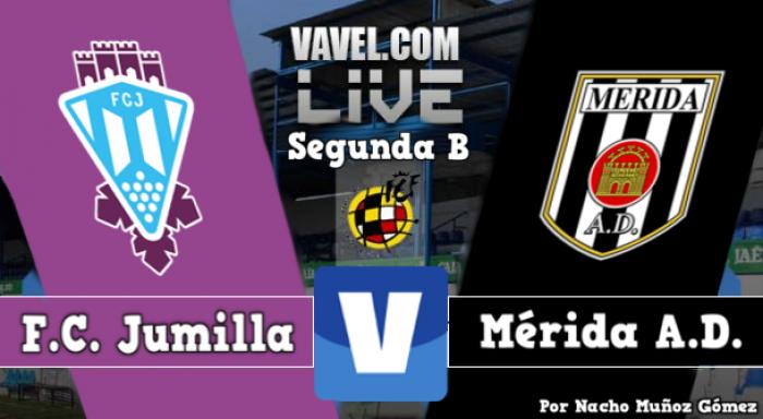 Resultado Jumilla - Mérida en Segunda División B 2016 (1-1)