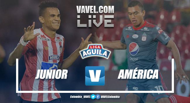 Resumen Junior vs América de Cali por la Liga Águila 2018-II (0-0)