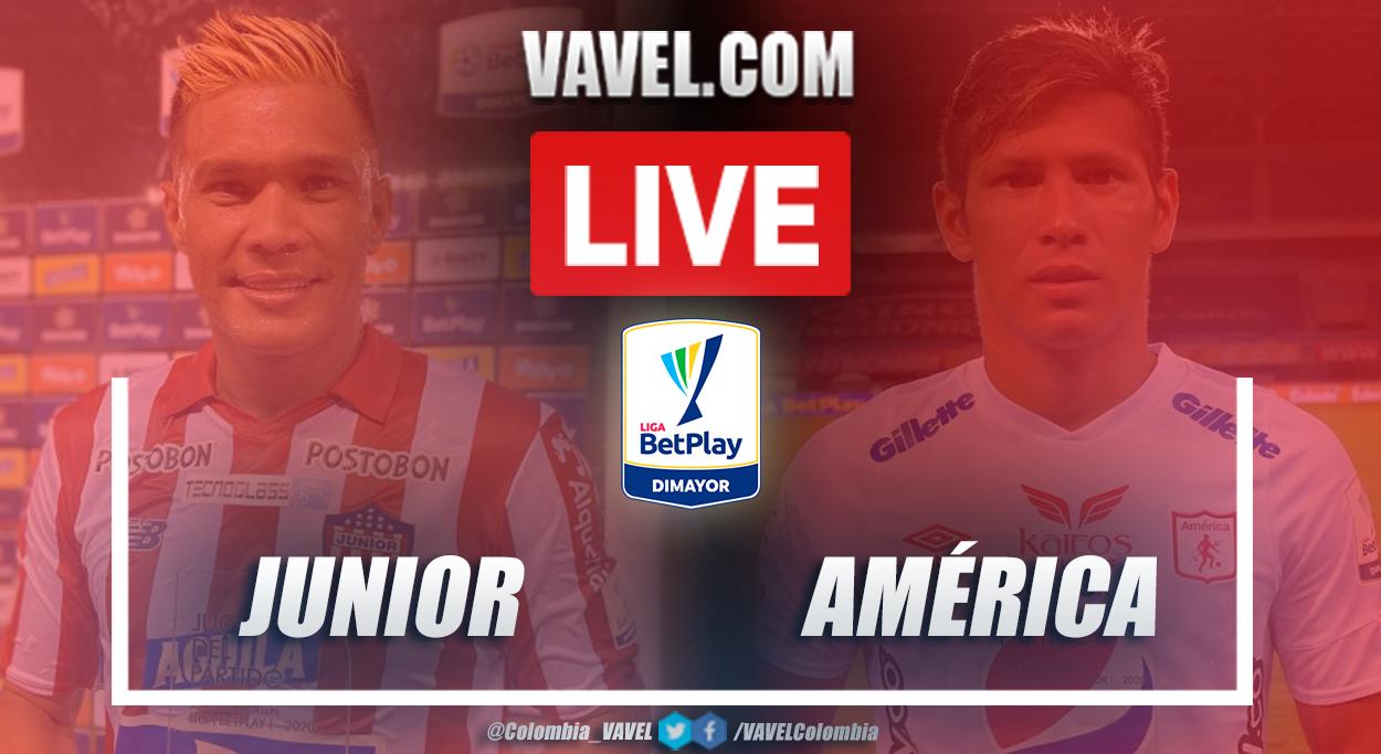 Resumen Junior vs América (2-1) en la fecha 3 por Liga BetPlay 2021-I