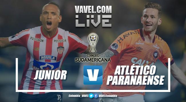 Resumen Junior vs Atlético Paranaense por la Copa Sudamericana (1-1)