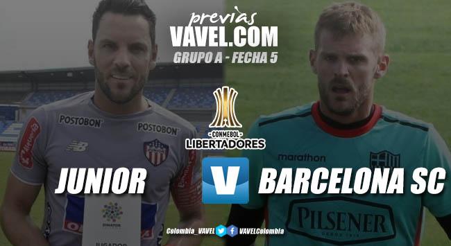 Previa Junior de Barranquilla vs. Barcelona: a seguir con vida en los torneos internacionales