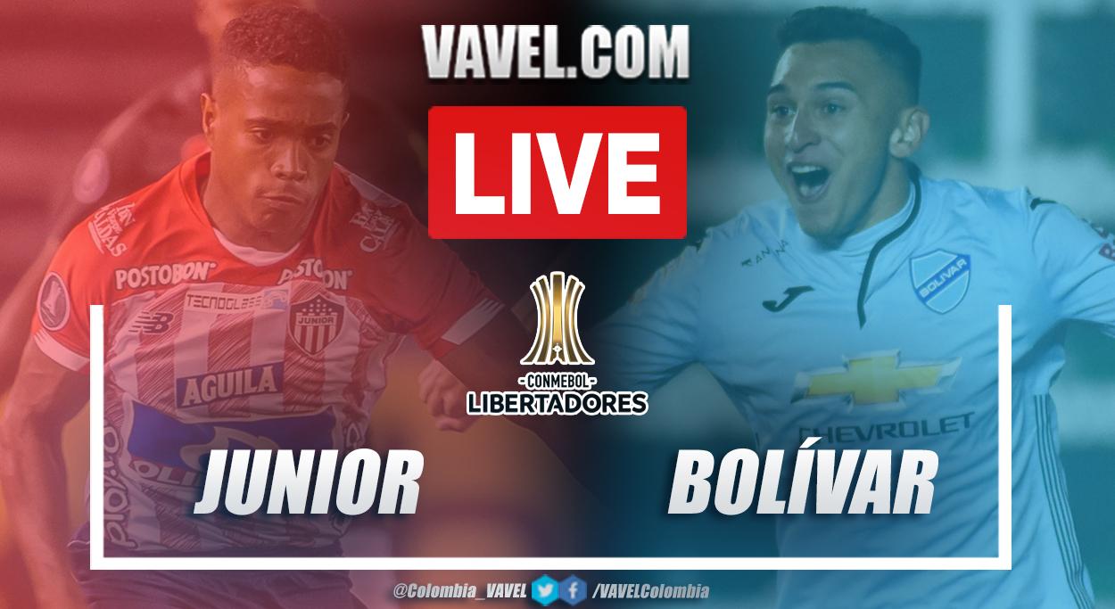 Resumen Junior vs Bolívar (3-0) en fase 3 por Copa Libertadores 2021