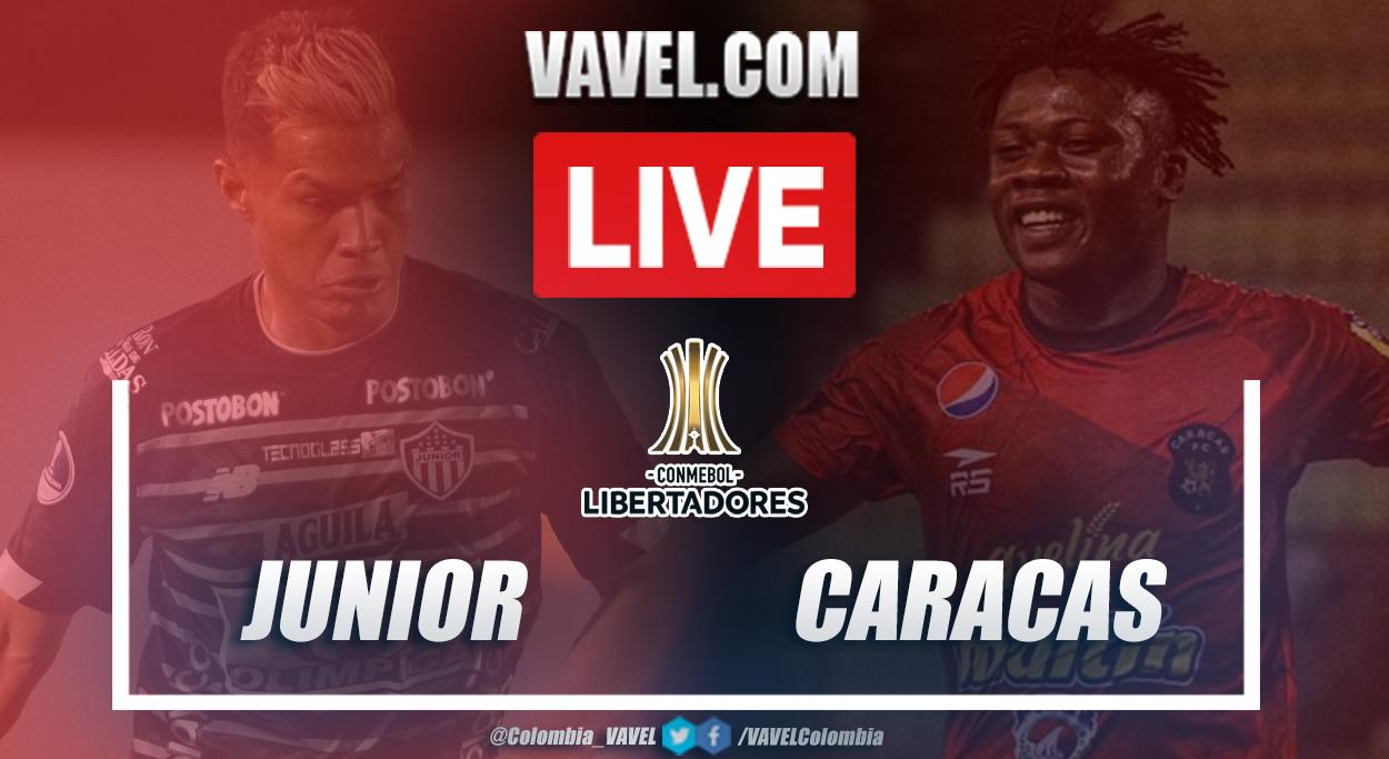 Resumen Junior vs Caracas (3-1) en vuelta de fase 2 por Copa Libertadores 2021