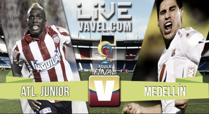 Resultado final Junior vs Medellín (1-1)