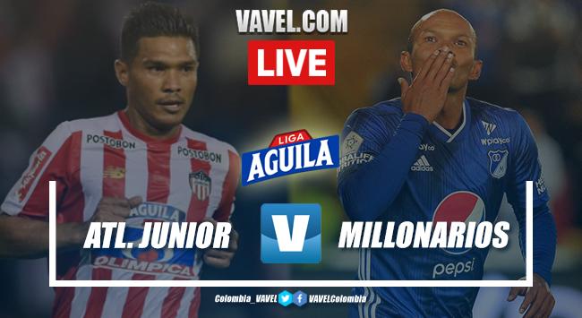 Junior vs. Millonarios en vivo online por la Liga Aguila 2019-II