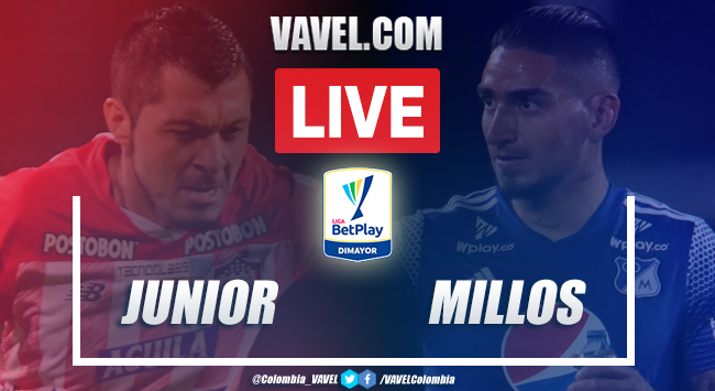 Resumen y goles Junior vs Millonarios (1-1)