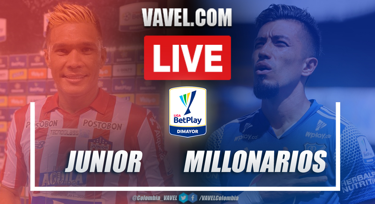 Resumen Junior vs Millonarios (2-0) por la fecha 9 de la Liga BetPlay