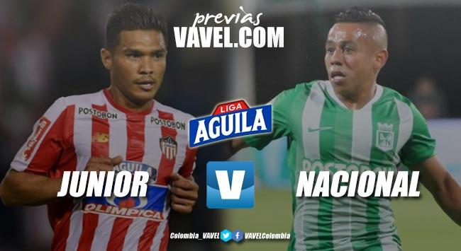 Previa Junior de Barranquilla vs Atlético Nacional: el 'tiburón' busca recuperarse en aguas propias