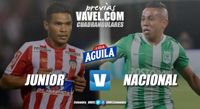 Previa Junior de Barranquilla vs Atlético Nacional: ¡Comienza el cuadrangular B!
