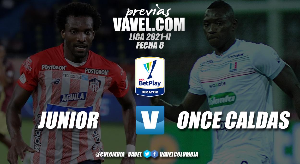 Previa Junior de Barranquilla vs Once Caldas: duelo por recomponer el camino