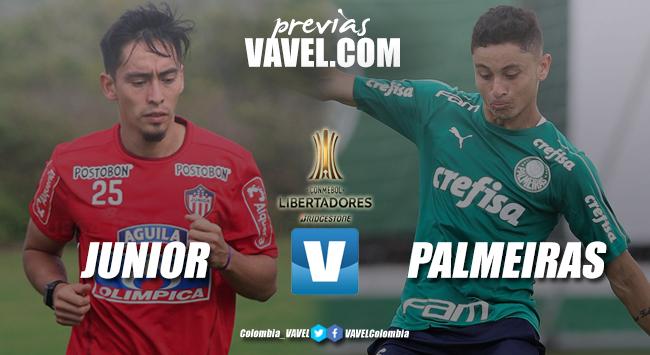 Previa Junior de Barranquilla vs Palmeiras: el 'tiburón' quiere que su hinchada siga de carnaval