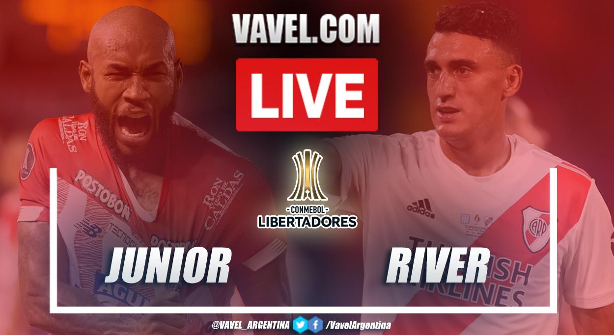 Resumen Junior vs River (1-1) en la fecha 4 del grupo D por Copa Libertadores 2021