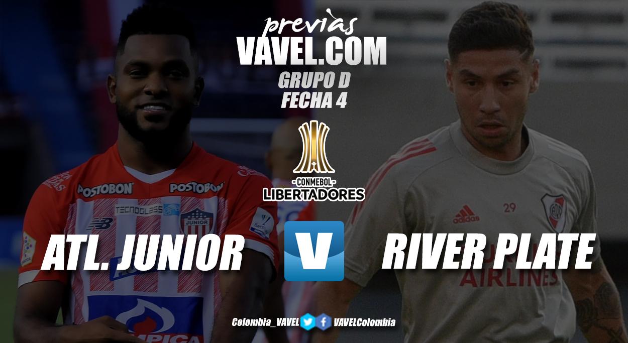 Previa Junior de Barranquilla vs River Plate: duelo para encaminar el rumbo del grupo D