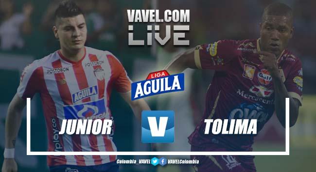 Resumen Atlético Junior vs Deportes Tolima por los cuadrangulares de la Liga Aguila (1-1)