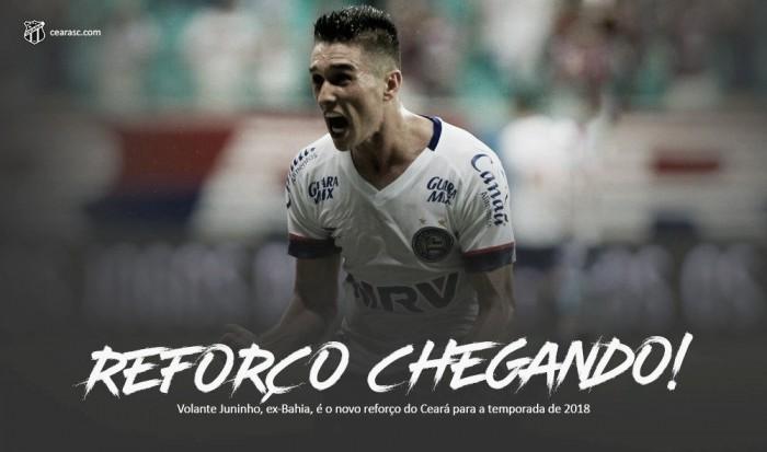 Ceará anuncia chegada por empréstimo do meia Juninho junto ao Bahia
