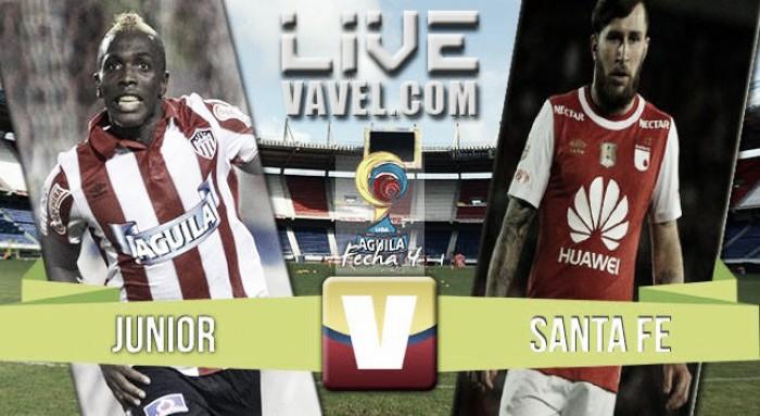 Resultado Atlético Junior 2-1 Independiente Santa Fe en la Liga Águila 2016