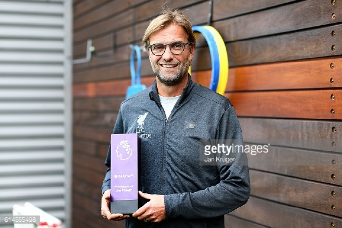Jürgen Klopp scoops September Manager of the Month as Henderson is rewarded for his Chelsea strike