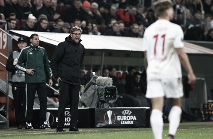 Jürgen Klopp unsatisfied with Liverpool's performance after goalless Augsburg draw