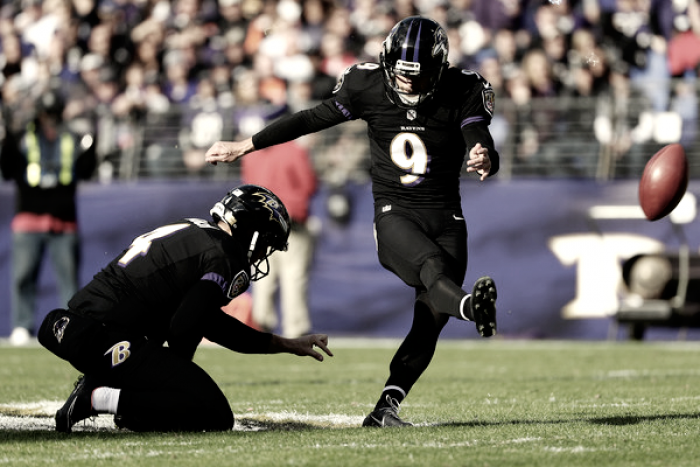 Justin Tucker proposes new kickoff idea, rewarding teams for splitting the uprights