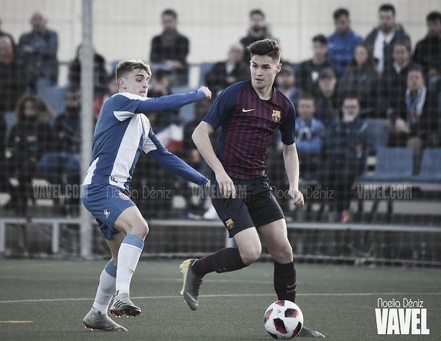 El Barça Juvenil A gana el derbi al Espanyol (0-2)