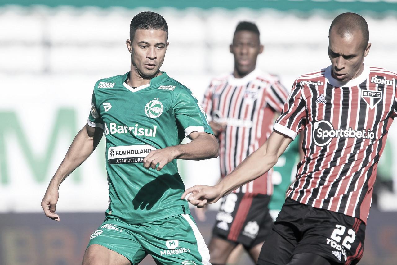 Com gols nos minutos finais, Juventude e São Paulo empatam pelo Brasileirão