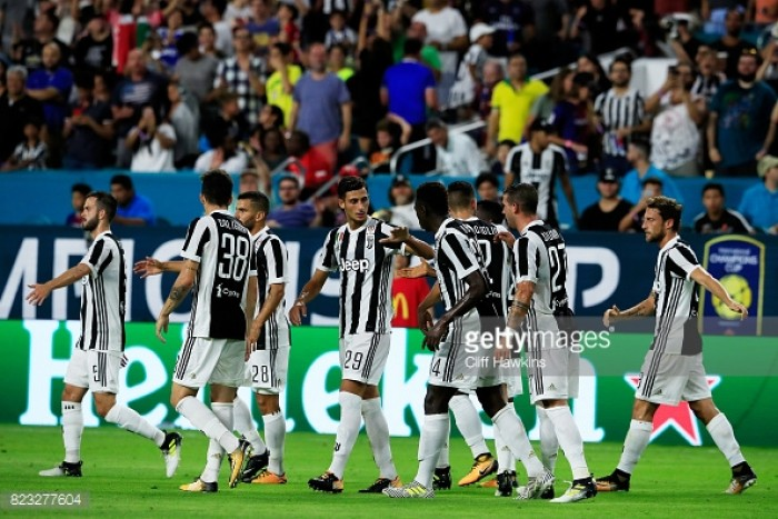 Juventus defeat PSG in Miami