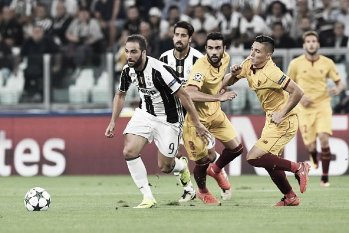Juventus e Sevilla fazem jogo truncado na Itália e não saem do zero