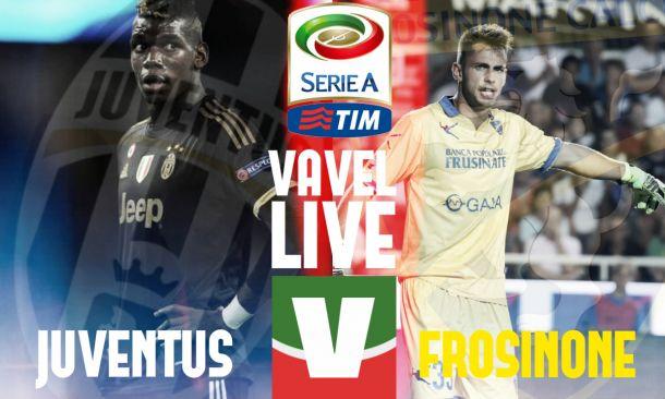 Live Juventus - Frosinone, risultato partita di Serie A 2015/16  (1-1)