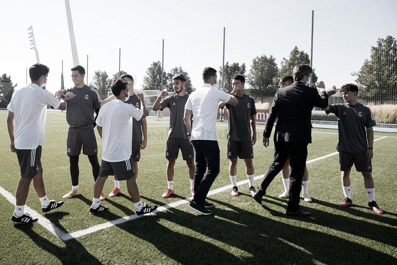 Primer entrenamiento para los jugadores del Juvenil A de Jorge Romero | Fuente: www.realmadrid.com