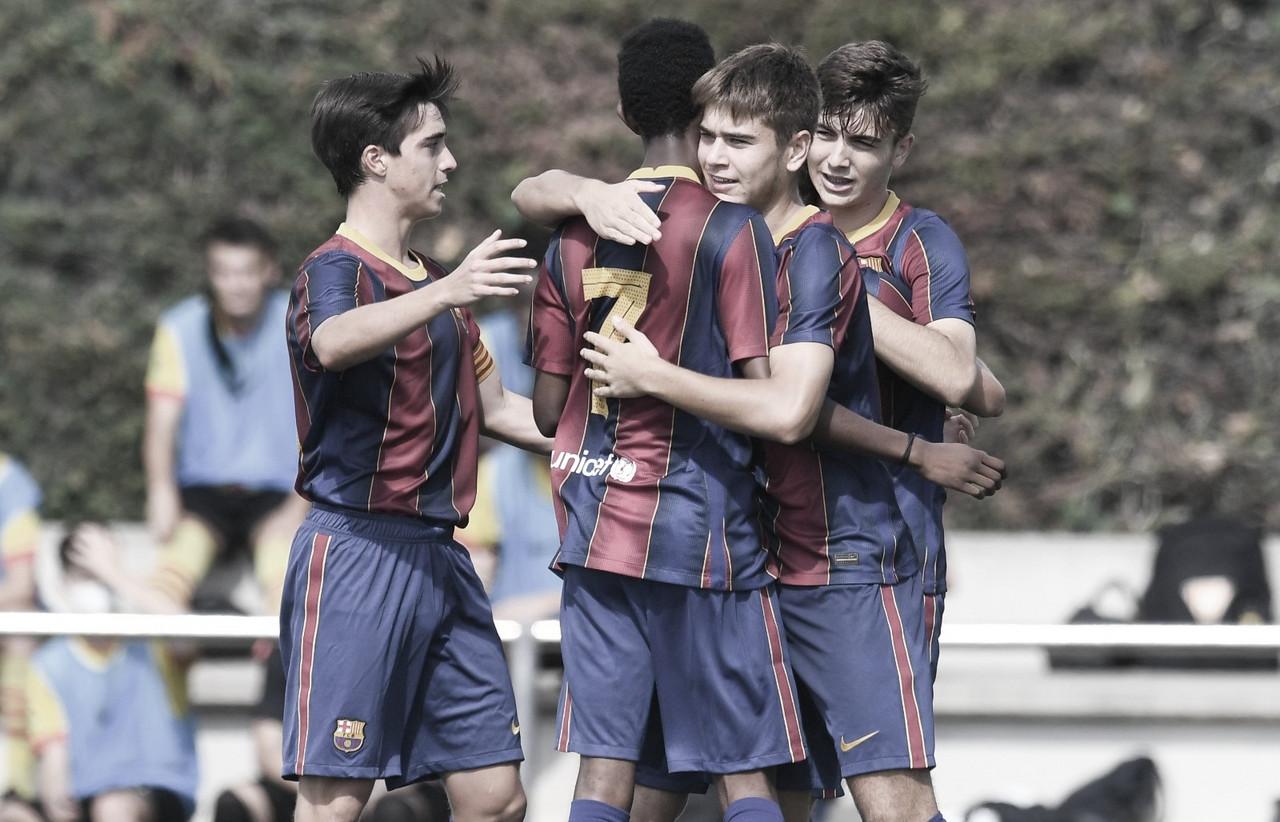 Atraco de goles del FCB Juvenil B a costa de la UE Fornells