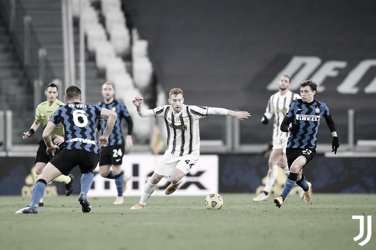 Juventus segura vantagem, empata com rival Internazionale e avança à final da Coppa Italia