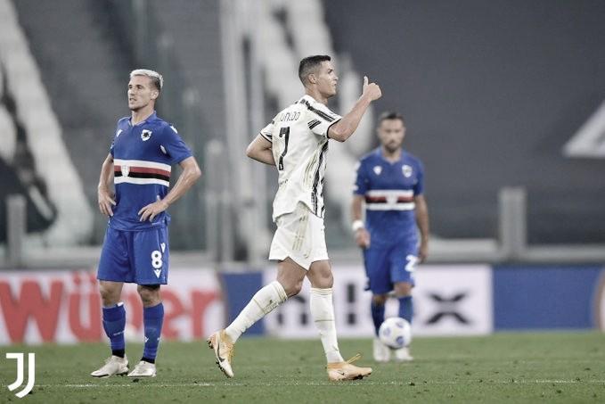 Com gol de CR7, Juventus domina Sampdoria e vence na estreia oficial de Pirlo