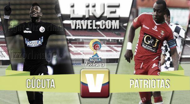 Resultado Cúcuta Deportivo - Patriotas en la Liga Águila 2015-II (1-0)