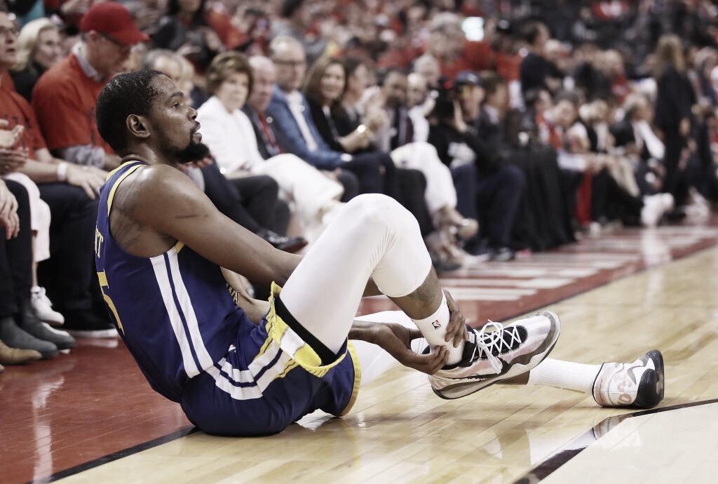 La terrible lesión de Kevin Durant en Toronto