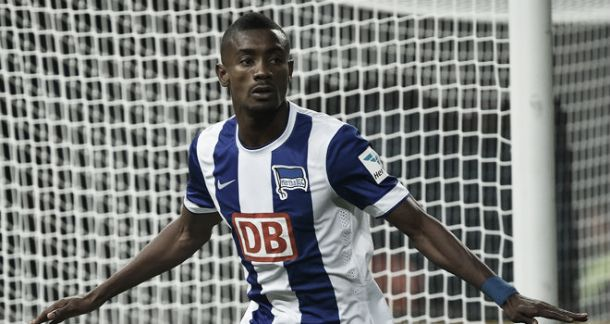 Hertha Berlin fine striker Salomon Kalou