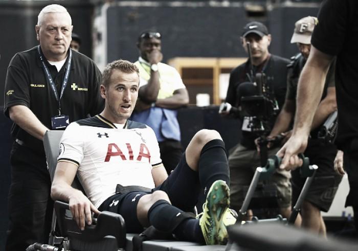 Kane rompe ligamento do tornozelo e desfalca Tottenham por tempo indeterminado
