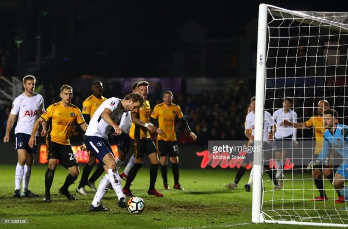 Harry Kane rescues draw for Spurs against Newport County