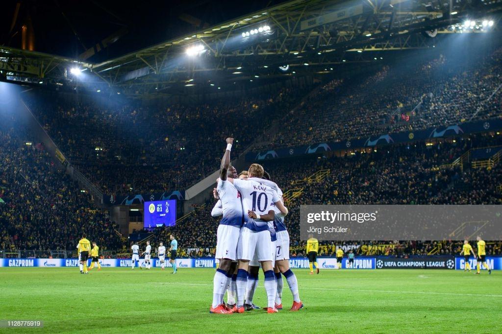 BorussiaDortmund 0-1Tottenham Hotspur as it happened: Mature Spurs performance sees them progress.
