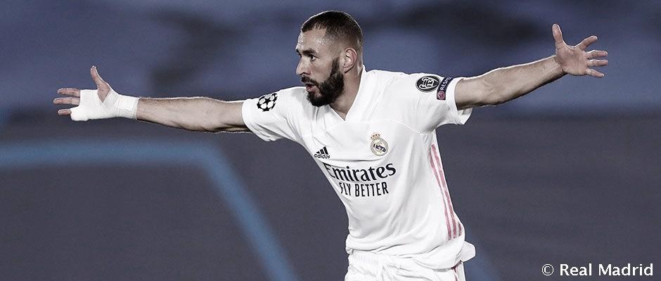 Benzema, tirando del carro en el Real Madrid