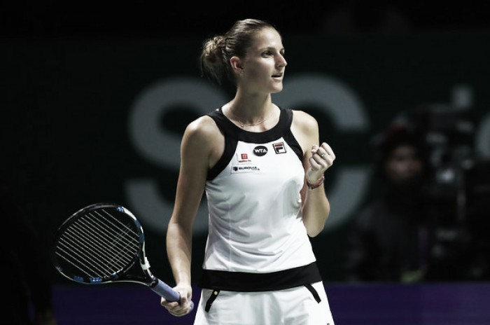 WTA Finals: Karolina Pliskova talks epic victory from the jaws of defeat over Garbiñe Muguruza