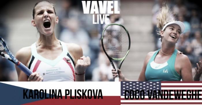 Karolina Pliskova vs Coco Vandeweghe Live Stream Commentary and Updates of the 2017 US Open Quarterfinal