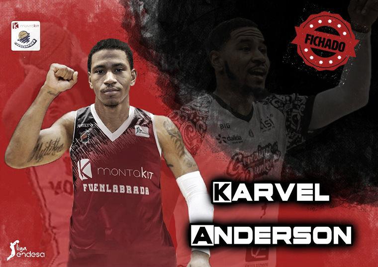 Karvel Anderson, nuevo jugador del Montakit Fuenlabrada