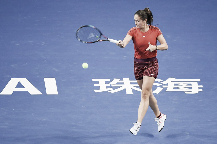 Kasatkina resiste à pressão de Wang e vence na estreia de Zhuhai
