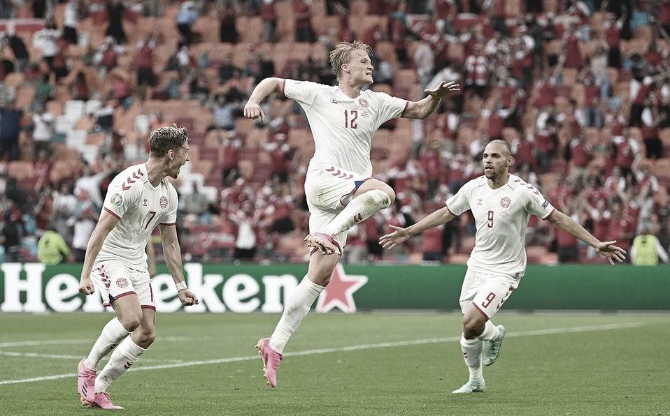 Gales - Dinamarca, puntuaciones de Dinamarca en los octavos de final de la Eurocopa 2020
