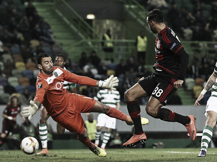 Sporting CP 0-1 Bayer Leverkusen: Bellarabi brings Bayer into promising position ahead of second leg