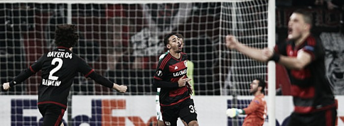 Bayer Leverkusen (4) 3-1 (1) Sporting CP: Brilliant Bellarabi sends hosts into last 16